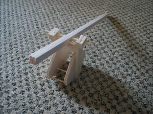 Built basket and arm.