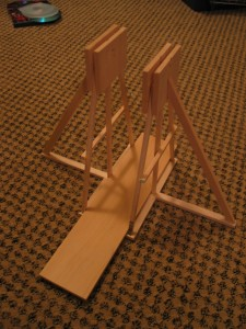 Build stand and throwing track.