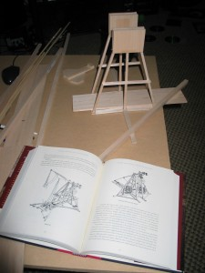 Illustration of the frame, and the book image used as the subject of some reverse engineering.