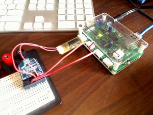 ioBridge and Serial Smartboard hooked up to XBee module